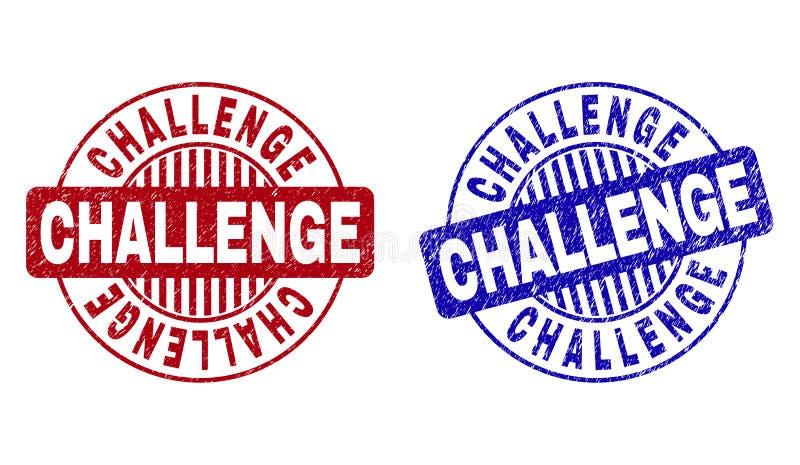 Grunge wyzwanie Textured Wokoło znaczków ilustracji