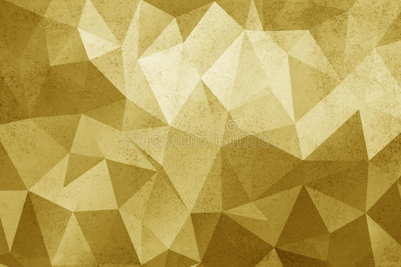 Grunge yellow polygonal vintage old background. royalty free illustration