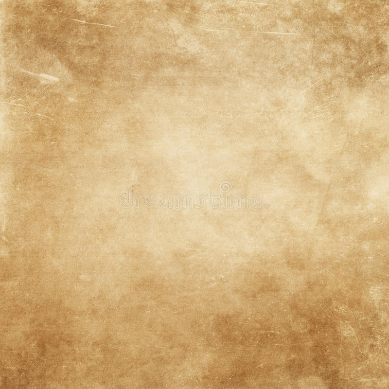 Grunge yellowed paper background. royalty free stock photography
