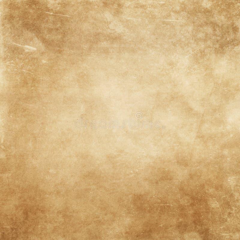 Grunge yellowed papierowy tło fotografia royalty free