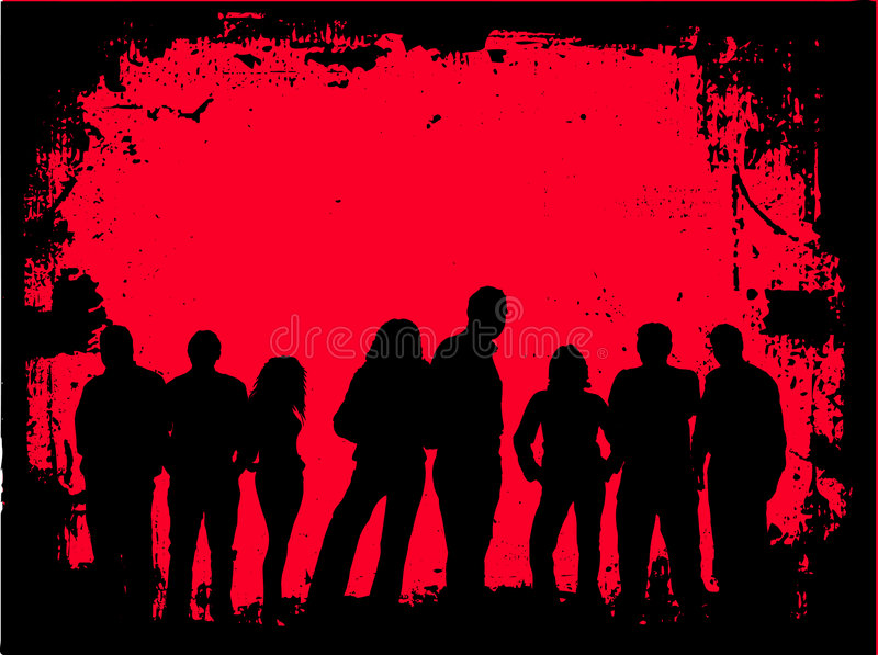 Download Grunge youth stock vector. Image of border, image, silhouette - 530688