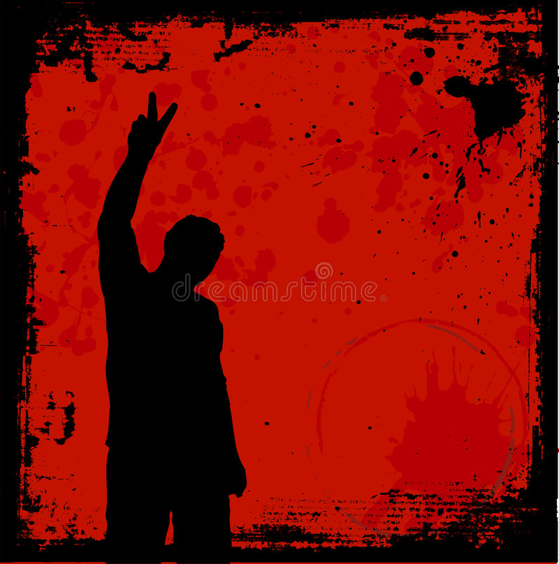 Grunge youth stock photo