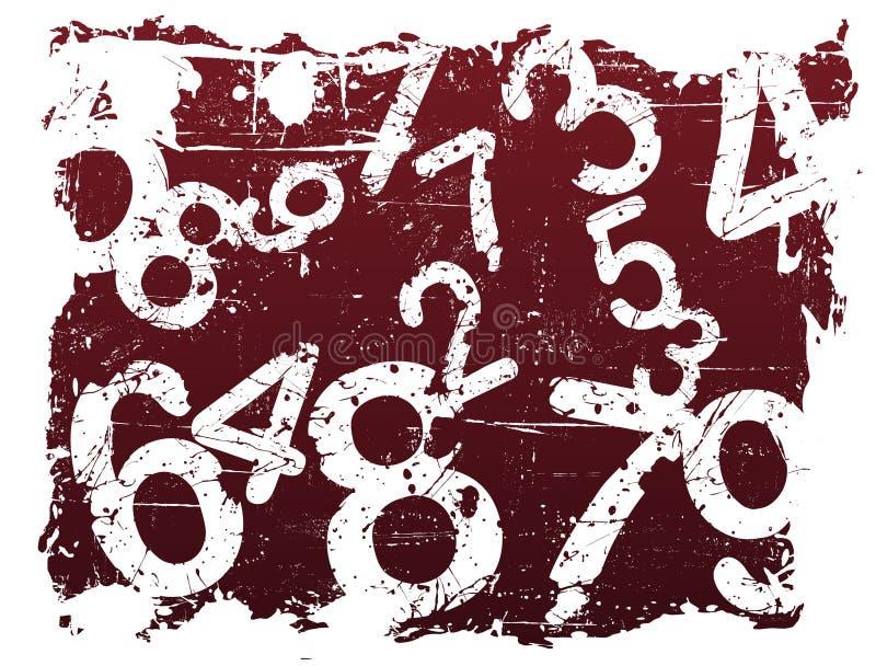 Grunge Zahl-Hintergrund vektor abbildung