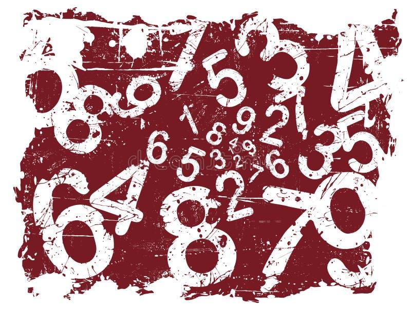 Grunge Zahl-Hintergrund lizenzfreie abbildung