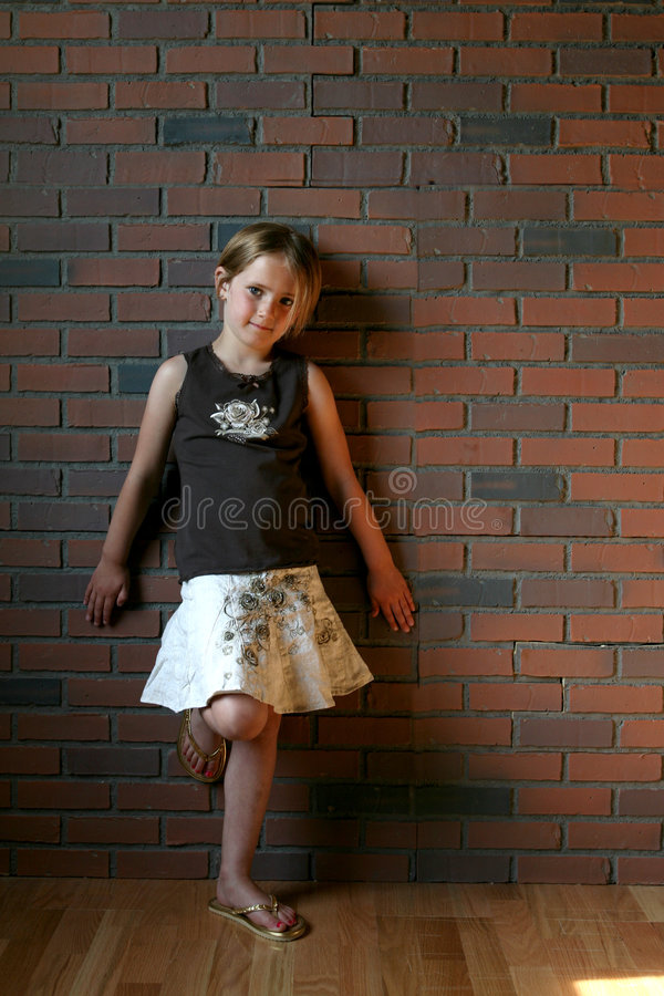 grunge zdjęcia dziewczyny mały typu zdjęcie stock