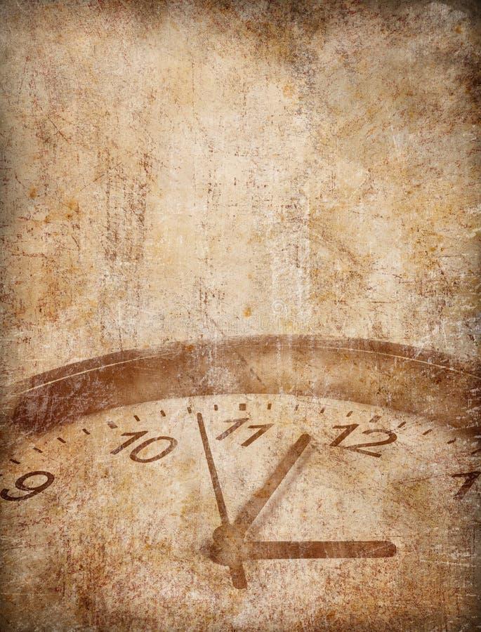 Grunge Zeit-Konzepthintergrund stock abbildung