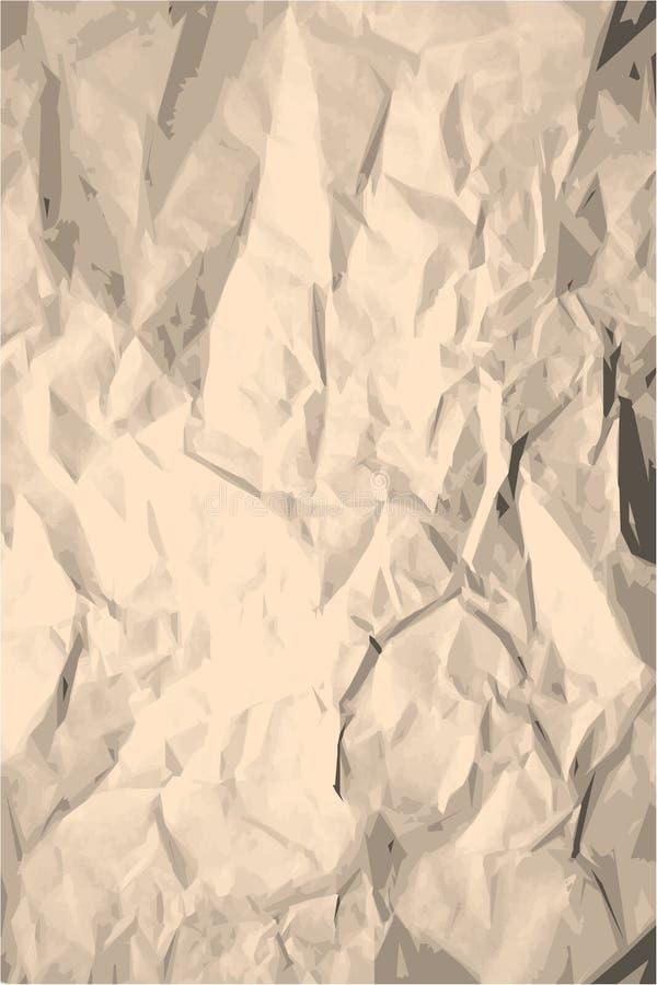 Grunge zerknitterte Papierbeschaffenheit stock abbildung