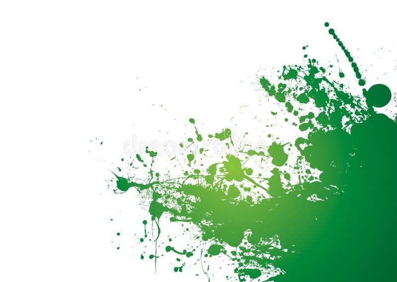 grunge zielony splat royalty ilustracja