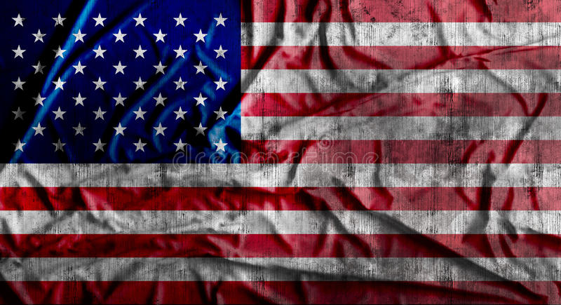 Grunge zmięta flaga amerykańska świadczenia 3 d ilustracji