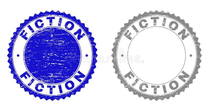 Grunge znaczka fikcje Drapać foki royalty ilustracja