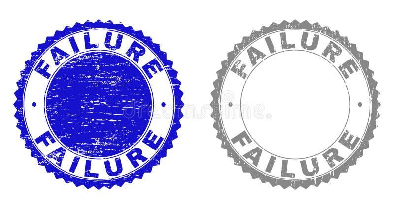 Grunge znaczka niepowodzenie Drapać foki ilustracji
