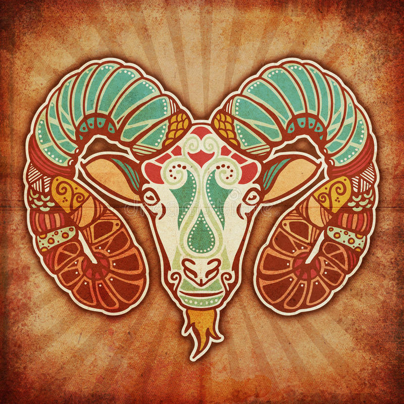 Grunge Zodiac - Aries royalty free illustration