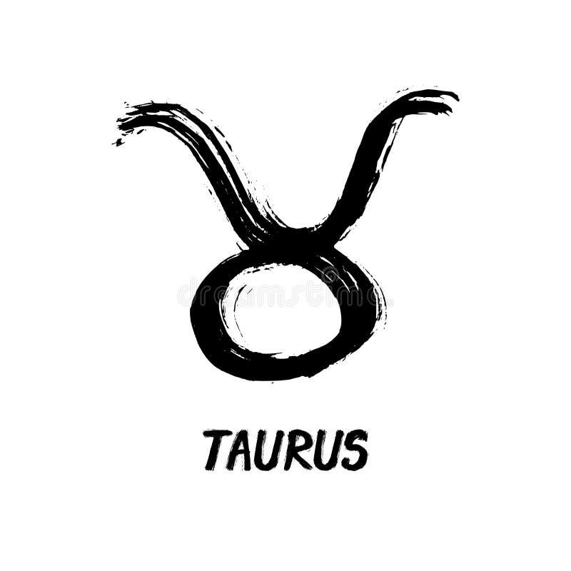 Grunge zodiak Podpisuje byka - Taurus - royalty ilustracja