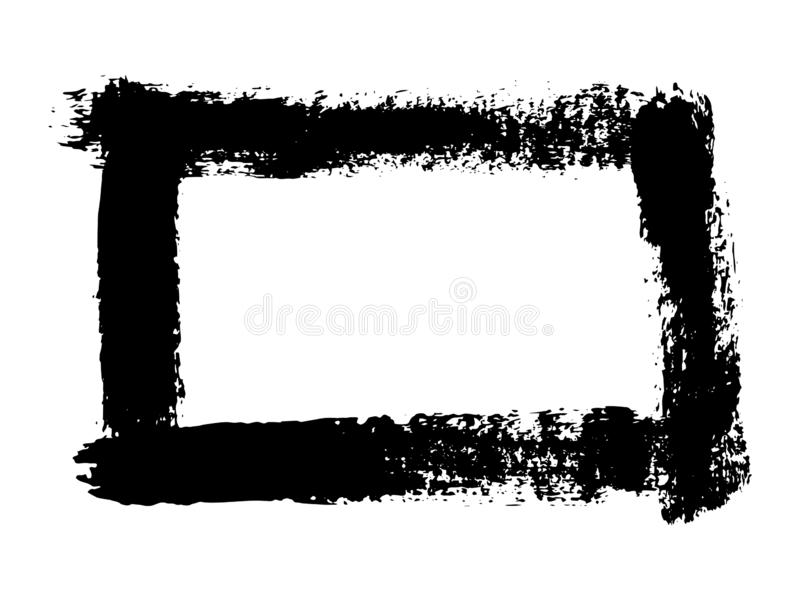 Grunge zwart hand getrokken die kader op witte achtergrond wordt geïsoleerd Vector ontwerpelement vector illustratie