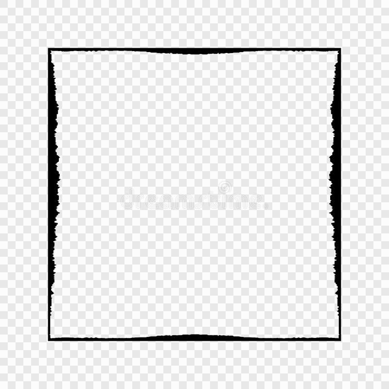 Grunge zwart kader op transparante achtergrond Vector element voor uw ontwerp vector illustratie