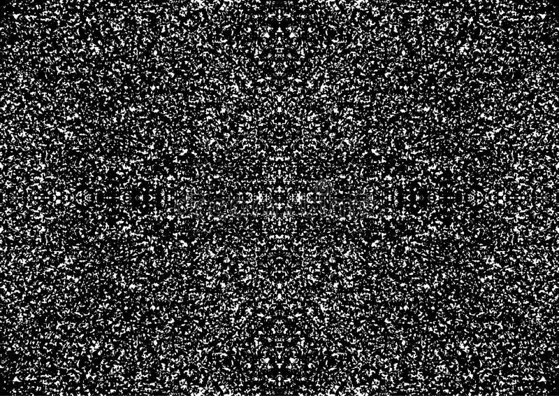Grunge zwart-witte abstracte naadloze achtergrond stock afbeeldingen