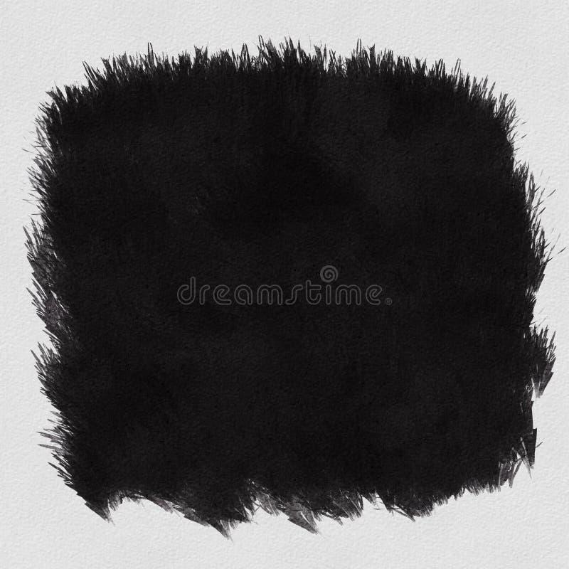 Grunge zwarte geschilderde blob met abstracte getextureerde achtergrond stock foto