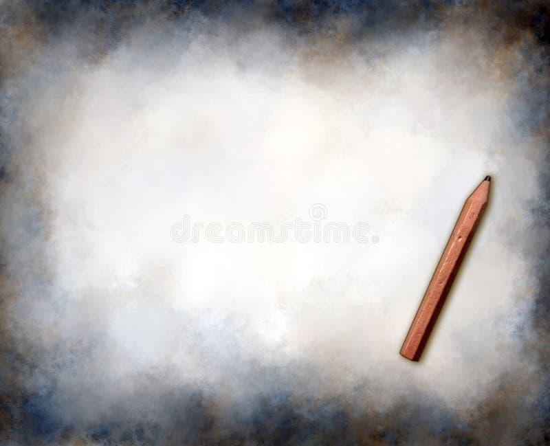 Grungeachtergrond met potlood royalty-vrije stock afbeeldingen