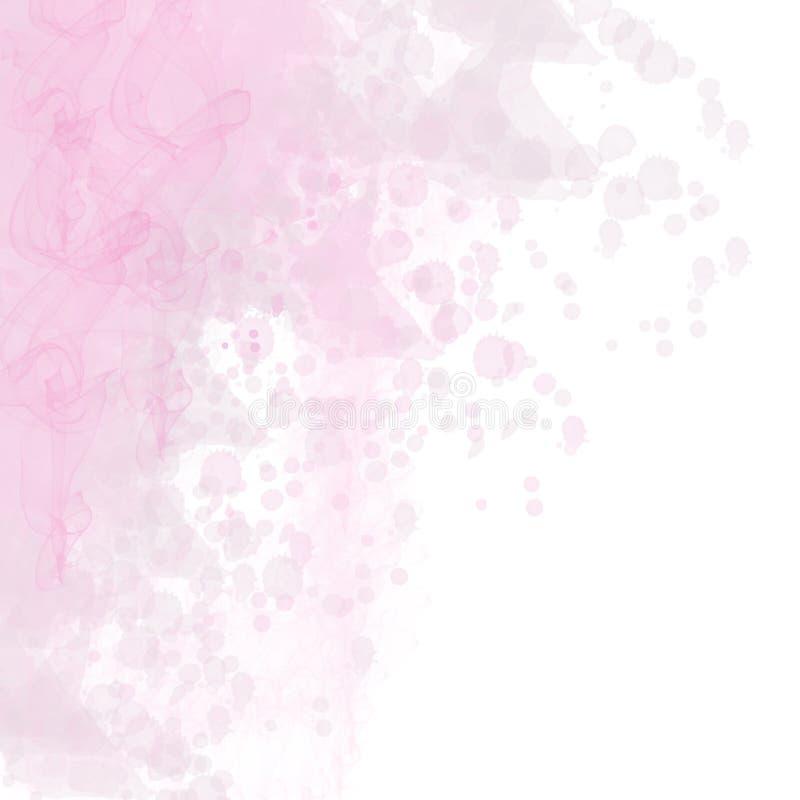 Grungeakvarel plaskar målarfärgbakgrund, lilan, abstrakt colo vektor illustrationer