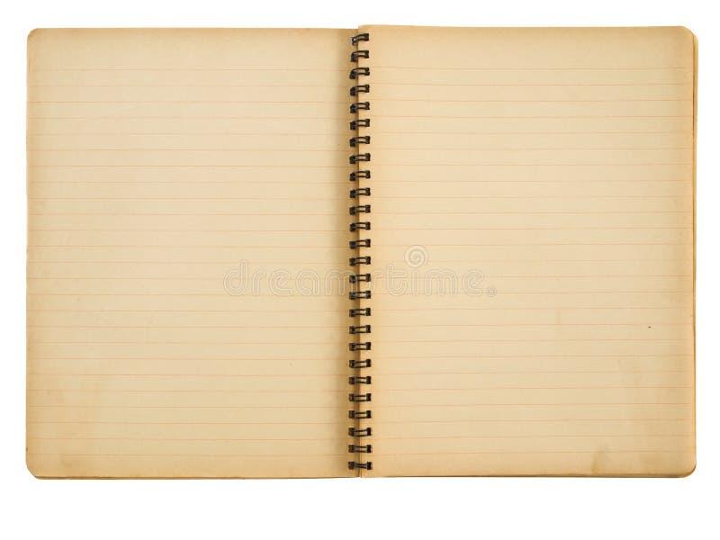 grungeanteckningsbokpapper arkivfoto