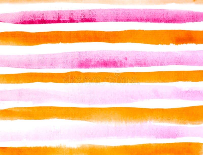 Grungeapelsin och röd randig bakgrund stock illustrationer