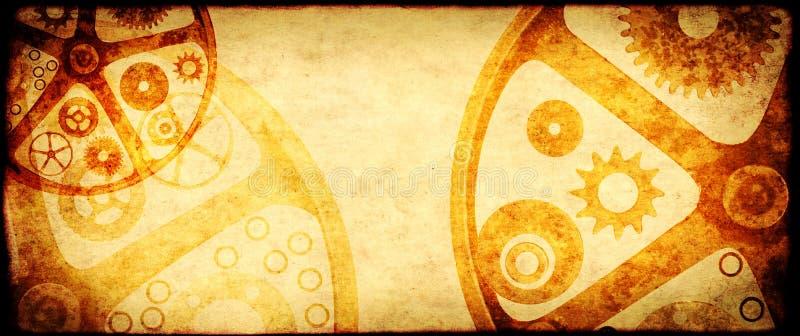 Grungebakgrund i steampunkstil arkivbild