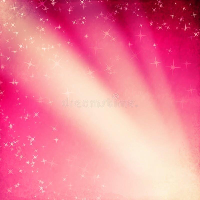Grungebakgrund med stjärnor och strålar vektor illustrationer