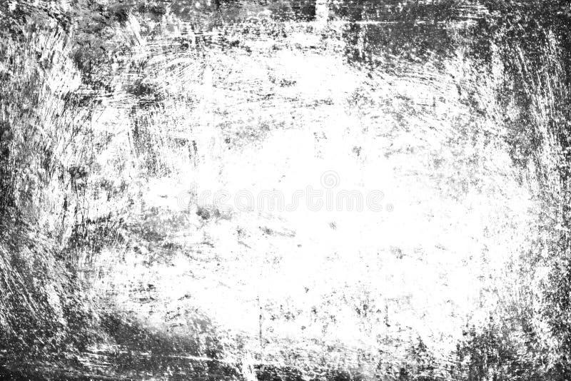 Grungebakgrund, vit textur för gammal ramsvart, smutsar ner papper stock illustrationer