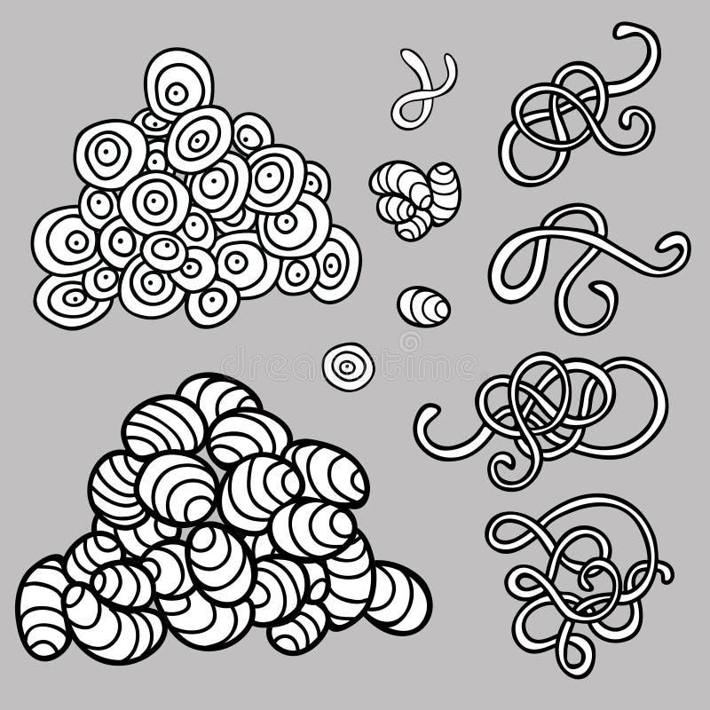Grungebakgrundsuppsättning royaltyfri illustrationer