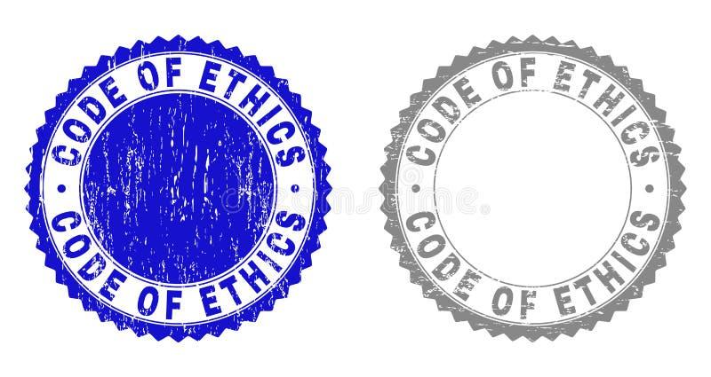 Grungecode VAN Verbindingen van de ETHIEK de Geweven Zegel royalty-vrije illustratie