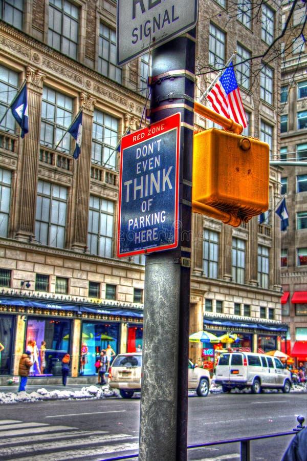 Grungecolorfullsikt av gator i New York royaltyfri fotografi