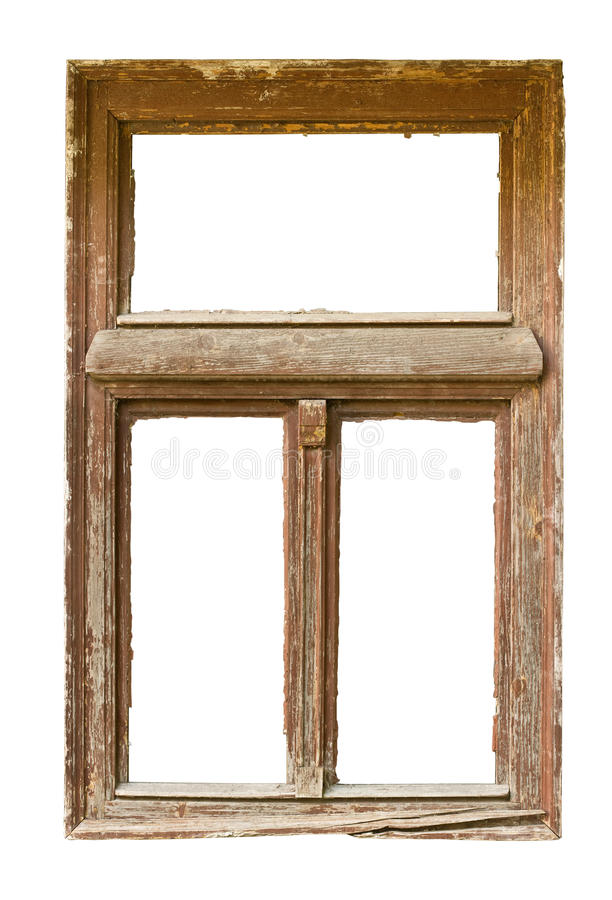 grunged окно деревянное стоковое фото