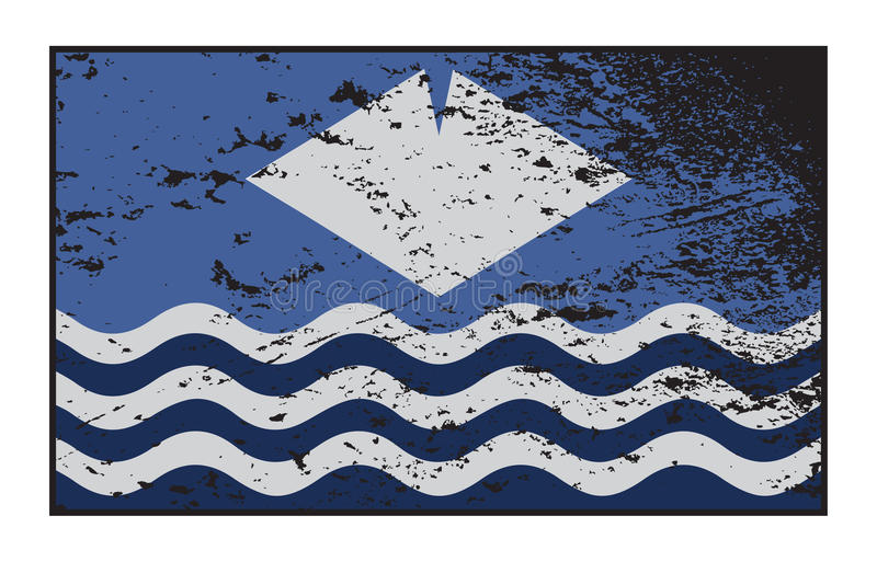 Grunged Isle Of Wight Flag. A Grunged Isle of Wight flag design isolated on a white background vector illustration
