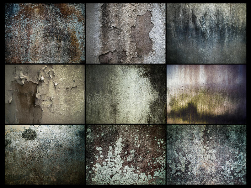 Grunged Old Wall. Various Abstract of Grunge Old Wall stock photography