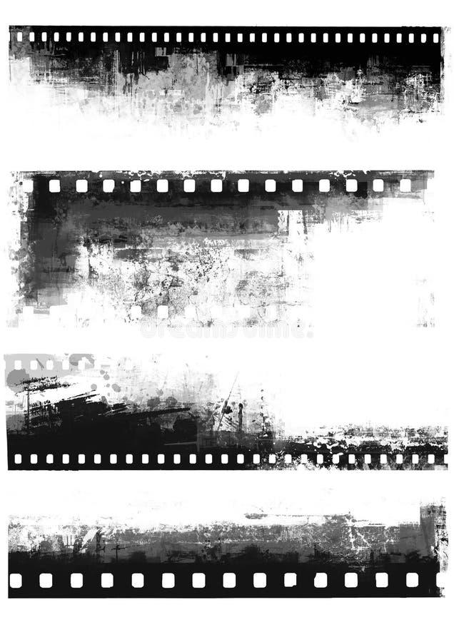 Grungefilmbakgrund vektor illustrationer