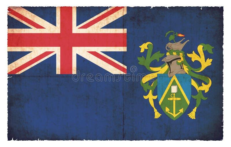 Grungeflagga av Pitcairn öar Storbritannien royaltyfri fotografi