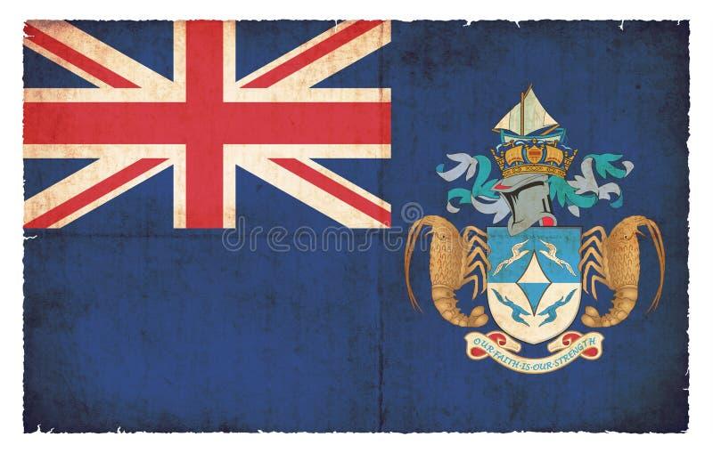Grungeflagga av Tristan da Cunha Great Britain royaltyfri fotografi