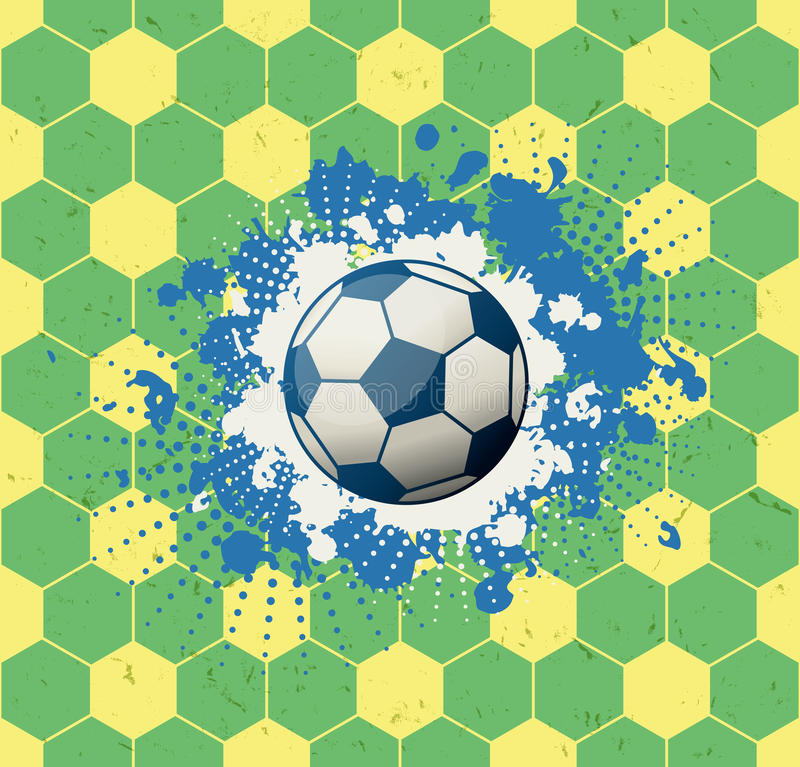 Grungefotbollbakgrund stock illustrationer
