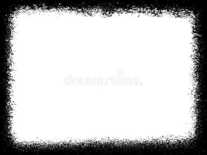 Grungegräns eller ram grungefotokant fotografering för bildbyråer