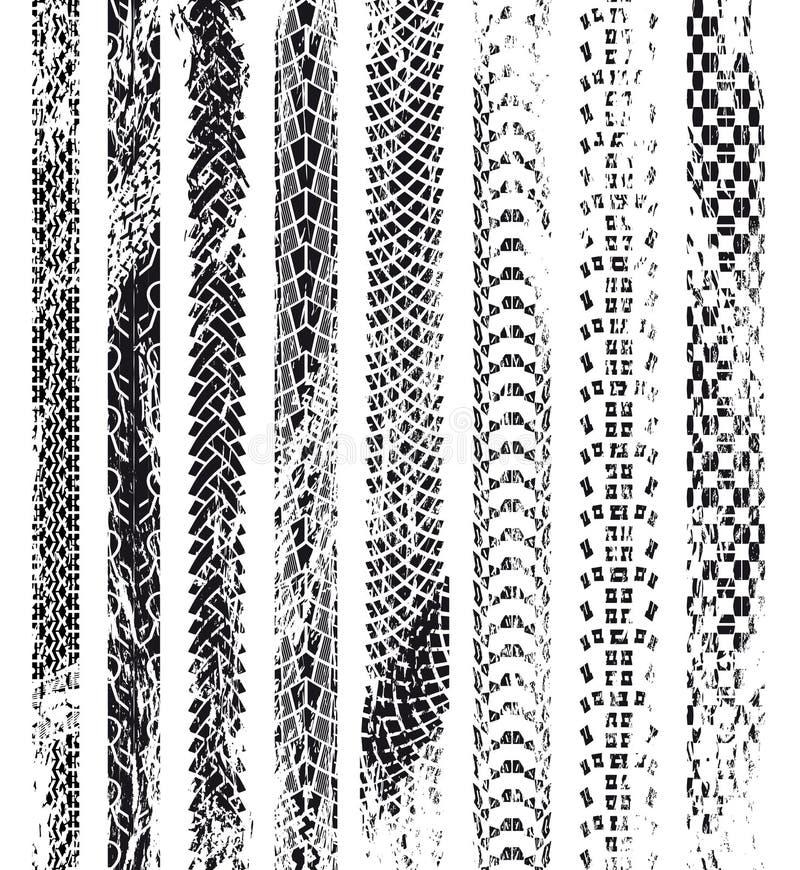 Grungegummihjulspår royaltyfri illustrationer