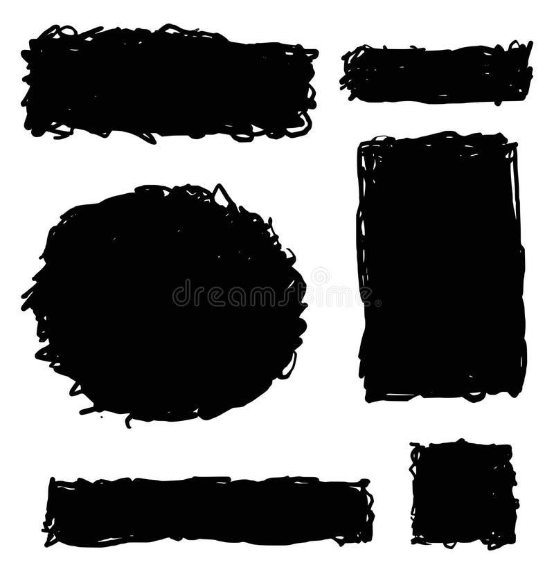 Grungehand getrokken elementen vector illustratie