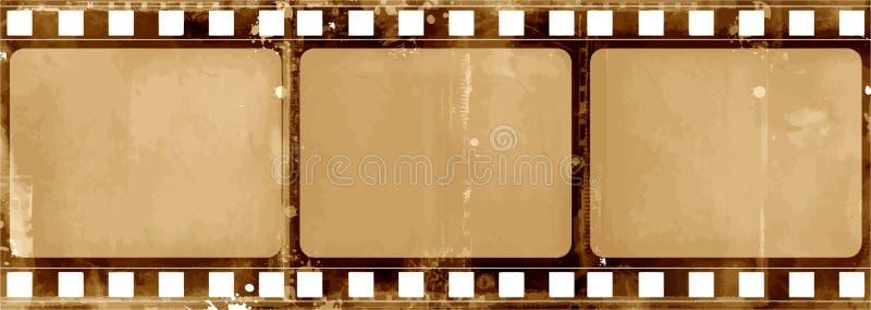 Grungekader - Grote Verontruste Textuur Decoratieve Vectorwijnoogst Doorstane Grens Grote Grunge-Achtergrond of Retro Ontwerp Dec vector illustratie