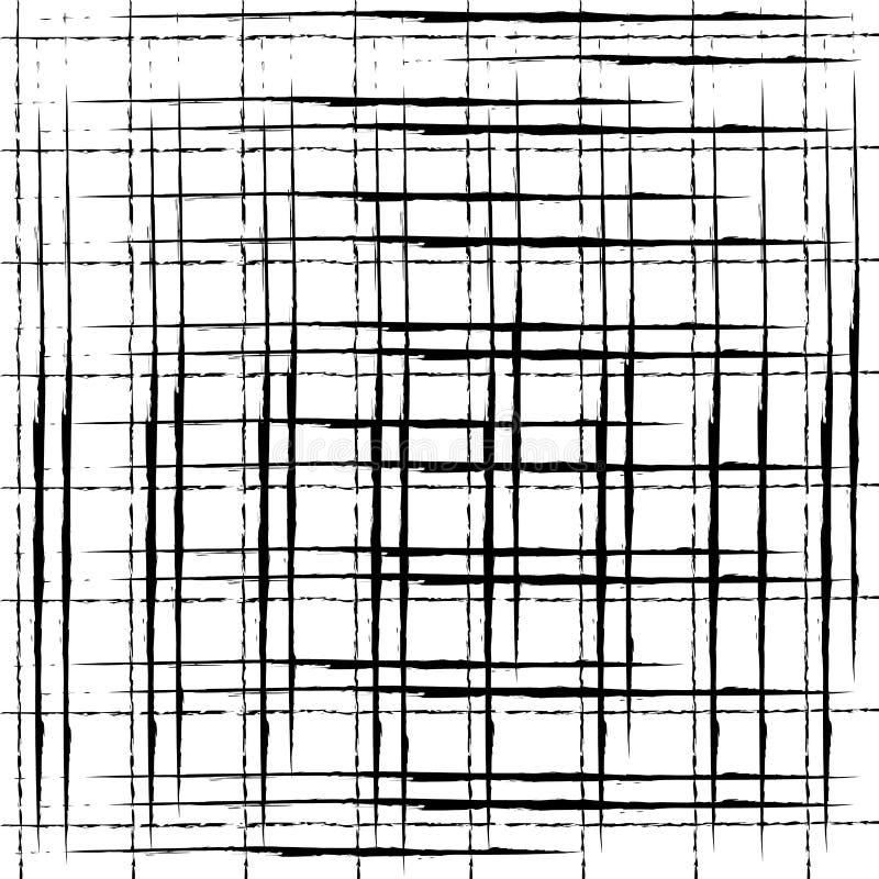 Grungekrijt verontrust vector naadloos patroon Abstracte streep vector illustratie
