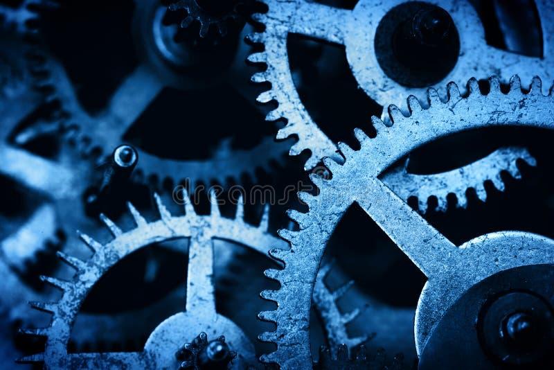 Grungekugghjulet, kugge rullar bakgrund Industriell vetenskap, urverk, teknologi arkivbild