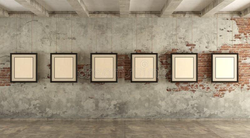Grungekunstgalerie stock fotografie
