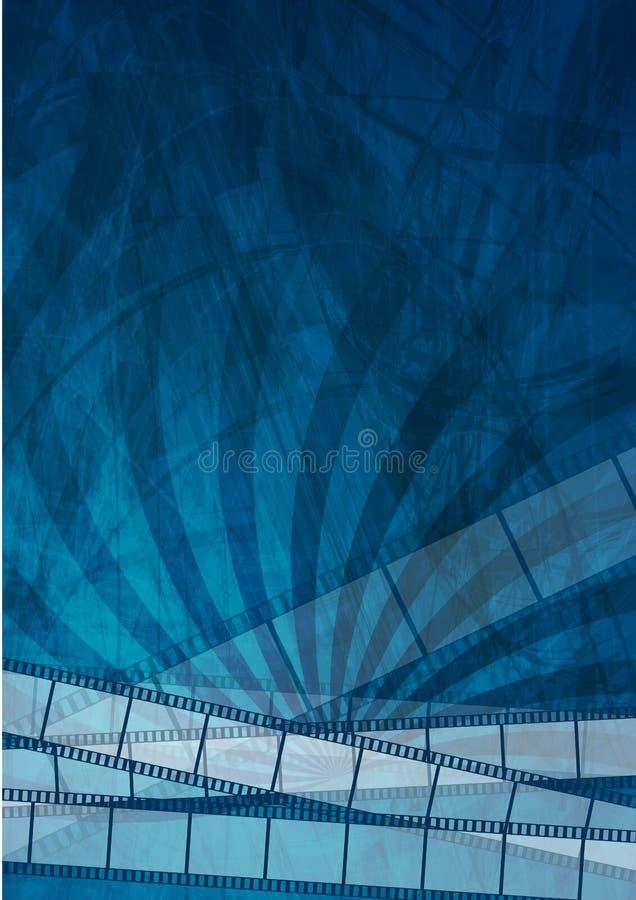 Grungemörker - blå bildbandabstrakt begreppbakgrund vektor illustrationer