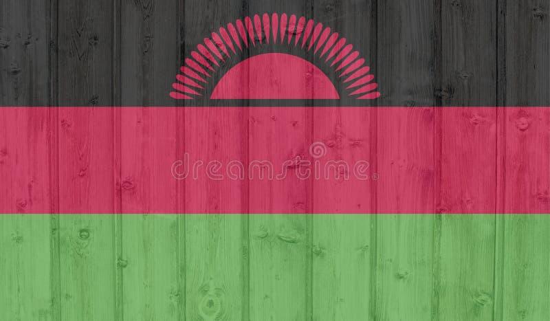 GrungeMalawi flagga arkivfoton