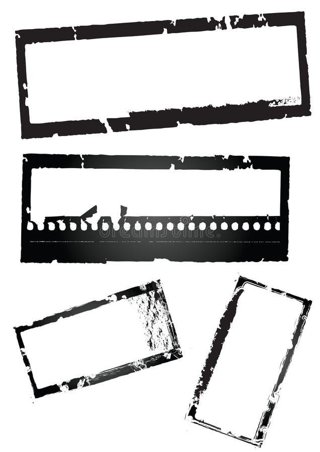 grungemall vektor illustrationer