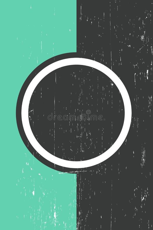 Grungemall Front Page Vector Illustration royaltyfri illustrationer