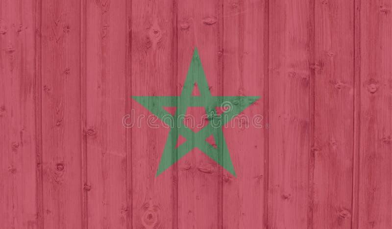 GrungeMarocko flagga stock illustrationer